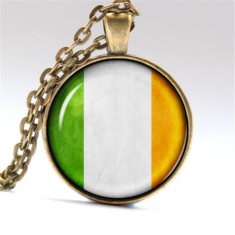 ⓪Bandera de encargo impresión joyería foto Irlanda bandera colgante ...