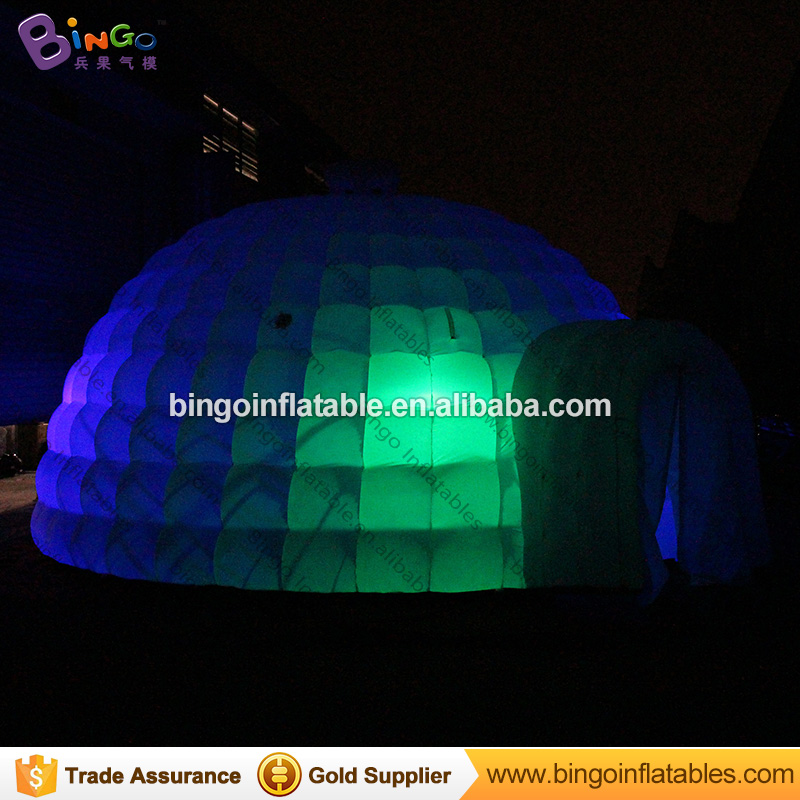 LED lighting 6X3 meters inflatable igloo / inflatable snow igloo / inflatable igloo for kids toy tents 3m diameter blow up snow ball inflatable snow globe inflatable human size snow globe balloons for chirstmas decoration