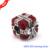 Grânulos de prata com esmalte vermelho serve para pandora pulseiras espumante surpresa 100% 925 prata esterlina encantos jóias diy atacado 301