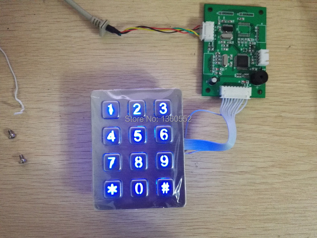 Rugged vandal proof illuminated 12 keys metal numeric keyboard Stainless steel keypad with leds for access control system, kiosk 4