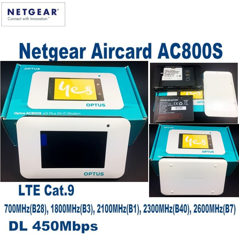 цена на 10pcs/Lots UNLOCKED Netgear Aircard AC800S 4G LTE 450Mbps router with 2pcs 4g LTE antenna
