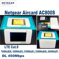 10pcs/Lots UNLOCKED Netgear Aircard AC800S 4G LTE 450Mbps router with 2pcs 4g LTE antenna