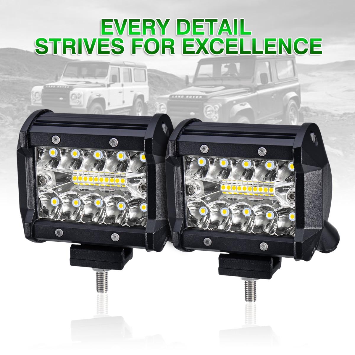4inch LED Work Light for Car Spot Flood LED Light Bar 2400LM DRL Driving Lamp 12V 24V Waterproof Truck Boat SUV Universal