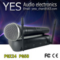 Cheap High Quality!! PGX PGX24 / PG 58 Wireless Handheld Microphone,UHF Vocal Microfone System with 3 pin Handheld & Case