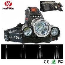 PANYUE High Power RJ5000 5000 lumen 3T6 Aluminum USB Rechargeable Zoomable LED Head Lamp Headlamp 2*18650 battery Headlight