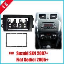 все цены на 2 Din Car Double 2DIN Refitting Radio Stereo DVD Frame Fascia Dash Panel Installation Kits For SUZUKI SX4 Fiat Sedici 2005-2010 онлайн