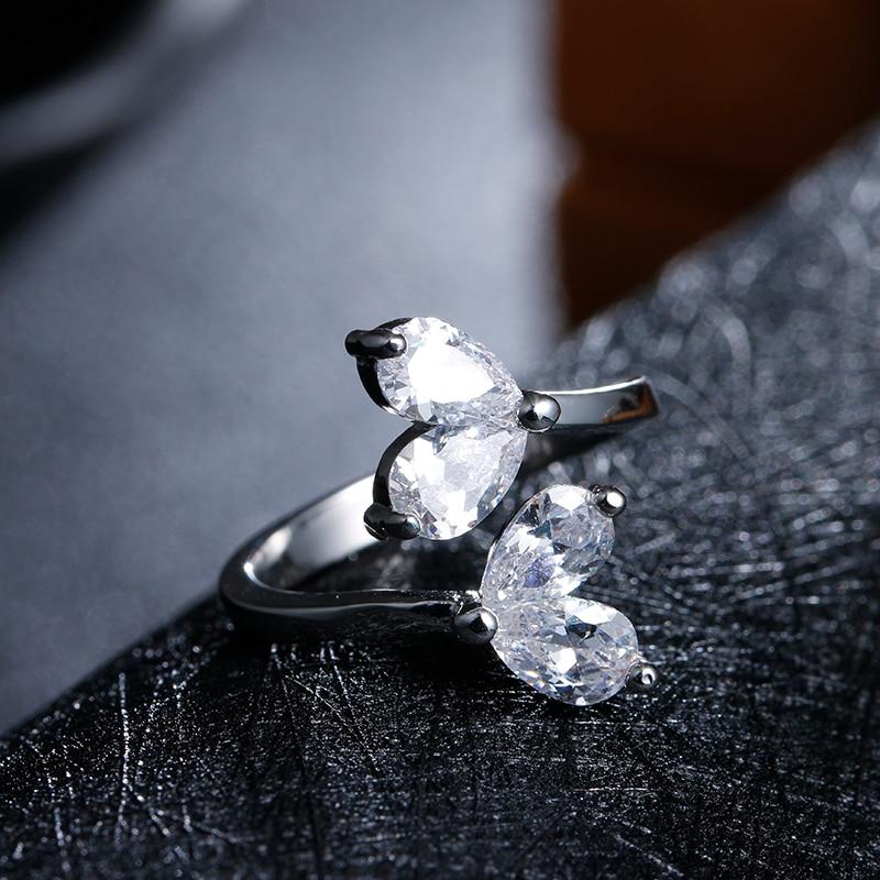 100% стерлінгового срібла 925 мода блискучих cz циркон жінок партія кільце дами пальчикові кільця ювелірні вироби оптом дешевий подарунок для дівчинки