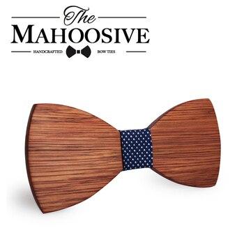 Mahoosive Simple Men s Suit Wooden Bow Tie For Groom Wedding Party Men Formal Wear Business