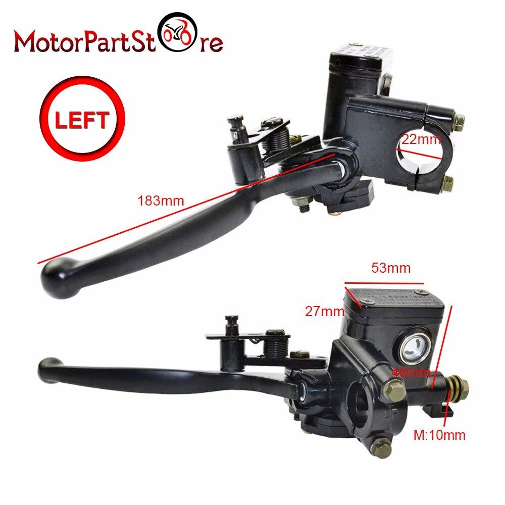 Brake Master Cylinder Left Hand Lever For 50 70 90 110 125 150 cc ATV uad Tao Tao Kazuma Lifan Buyang @15