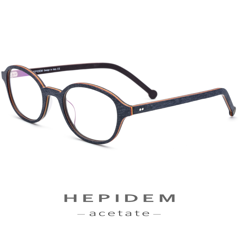 Acetate Glasses Frame Men Round Prescription Spectacles Eyewear 2018 Women Nerd Myopia Optical Frames Wood Grain Eyeglasses 9102 in Women 39 s Eyewear Frames from Apparel Accessories