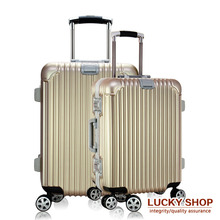 20 24  Inch TSA lock hook up PC+ABS aluminum frame universal wheel rolling Carry-Ons luggage travel case Hardside suitcase