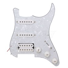 Yibuy SCRATCHPLATE & PICKUPS ASSEMBLY FOR GUITAR/ SSH