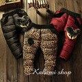 As crianças usam inverno Coreano meninas do bebê da menina calças do bebê quente para baixo calças de algodão grosso calças