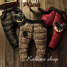 Children wear winter Korean girls baby girl thick baby trousers warm down cotton pants trousers
