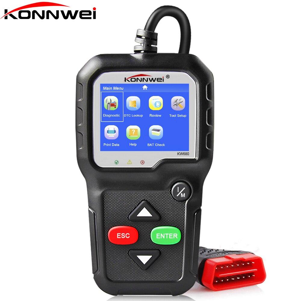 OBD2 Scanner OBD Car Diagnostic Auto Diagnostic-Tool KONNWEI KW680 Read Clear Fault Error