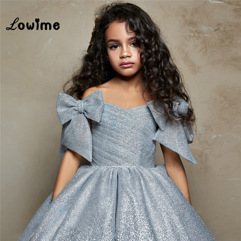 Princess Long Pageant   Dresses   For   Girls   2018   Flower     Girl     Dresses   For Weddings Elegant Vestidos De Comunion Kids Evening   Dress