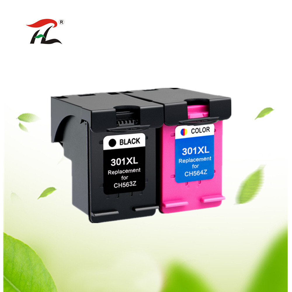 2Pack Compatible 301XL Ink Cartridge Replacement for hp 301 xl CH563EE CH564EE for Deskje 1000 1050 2000 2050 2510 3000 3054 2pcs ink cartridge compatible for hp 122 xl for hp deskjet 1000 1050 2000 2050 2050s 3000 3050a 3052a 3054 1010 1510 2540