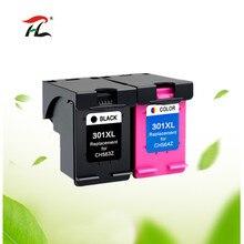 2 Pack Совместимость 301XL картридж Замена для hp 301 xl CH563EE CH564EE для Deskje 1000 1050 2000 2050 2510 3000 3054