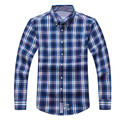 Free Shipping OXford Homme lattice Brand Spring Winter Checked Mens Long Sleeve Shirt Winter Men's Checked Collar 7 colors