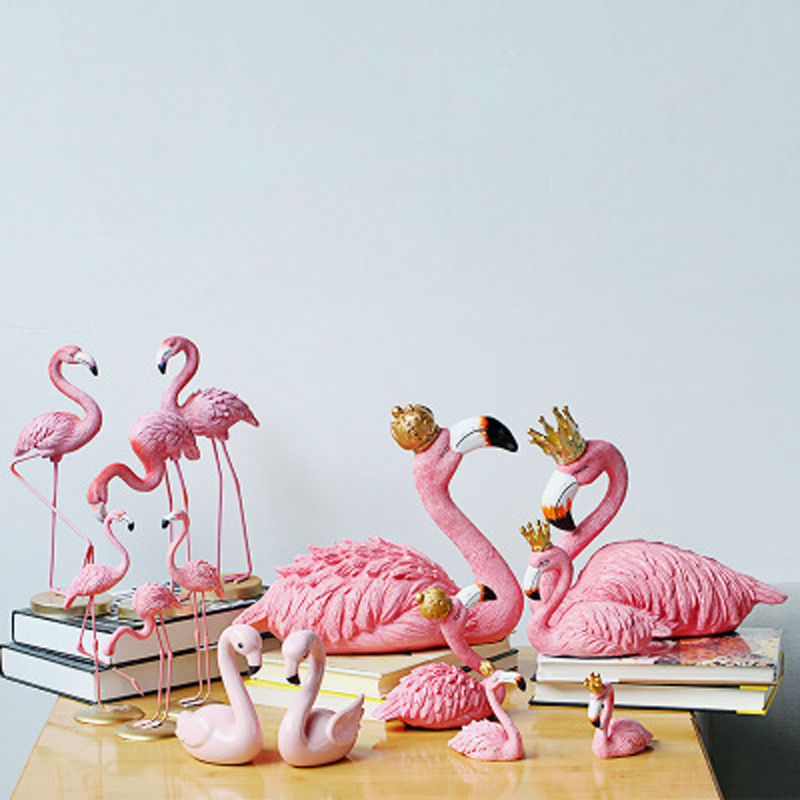 Vacclo 1pc ins Creative House Decoration Flamingo Ornament for The Wedding Gift Birthday Party Weeding Decoration Party Supplies 2