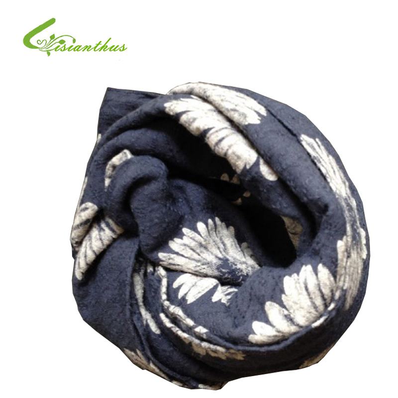Apparel Accessories Supply Lady Womens Long Cute Daisy Flower Print Scarf Wraps Shawl Soft Scarves Bufanda De Gasa De Verano