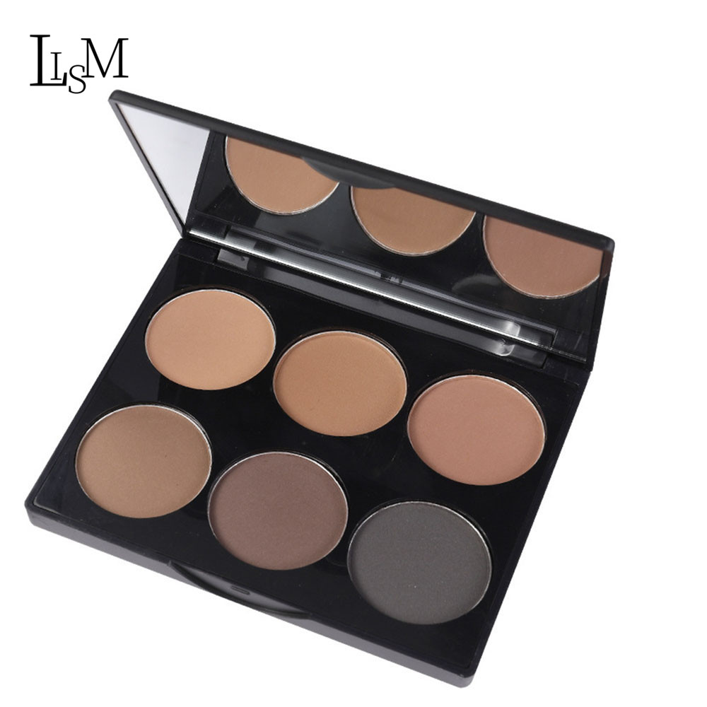 LISM Hot Sale Brighten six color Repair Rowder Repair makeup Easy to Wear Shadow Powder Palette Long Lasting Waterproof in Bronzers Highlighters from Beauty Health