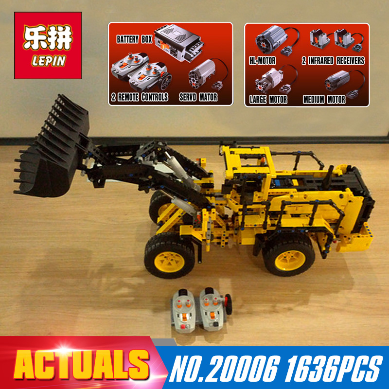 1636Pcs 20006 Lepin technic series Volvo L350F wheel loader Model Building blocks Bricks Compatible 42030 boy gift car Toys lepin 22001 pirate ship imperial warships model building block briks toys gift 1717pcs compatible legoed 10210