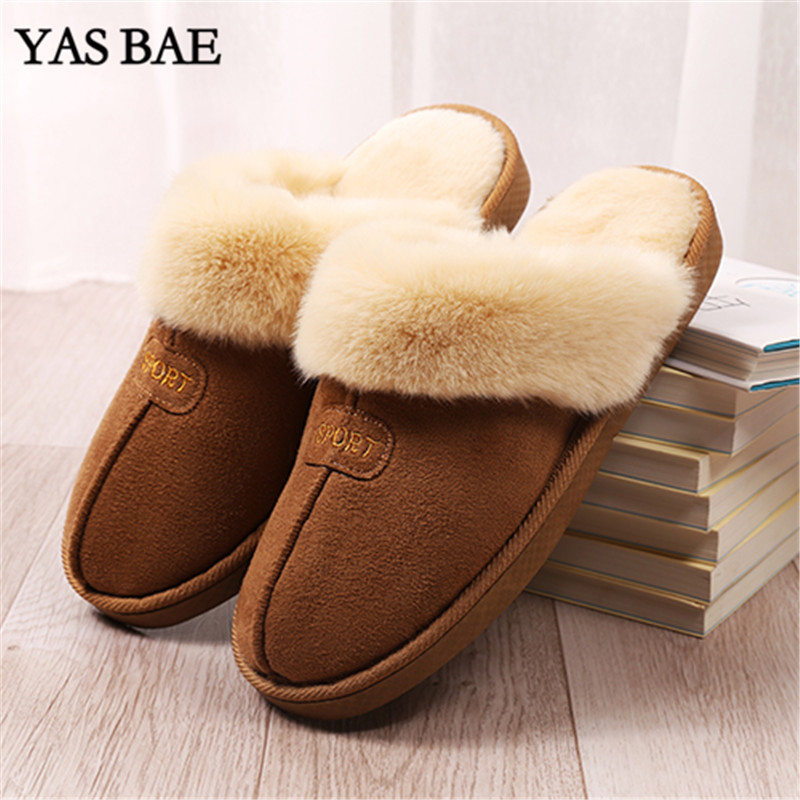 c811d5136aca2 2019 Hot Sale Luxury Winter Plush Leather Furry Flip Flops House Fuzzy Fur  Soft Bedroom Australian Slippers for Women no ug Anti-in Slippers from  Shoes on ...