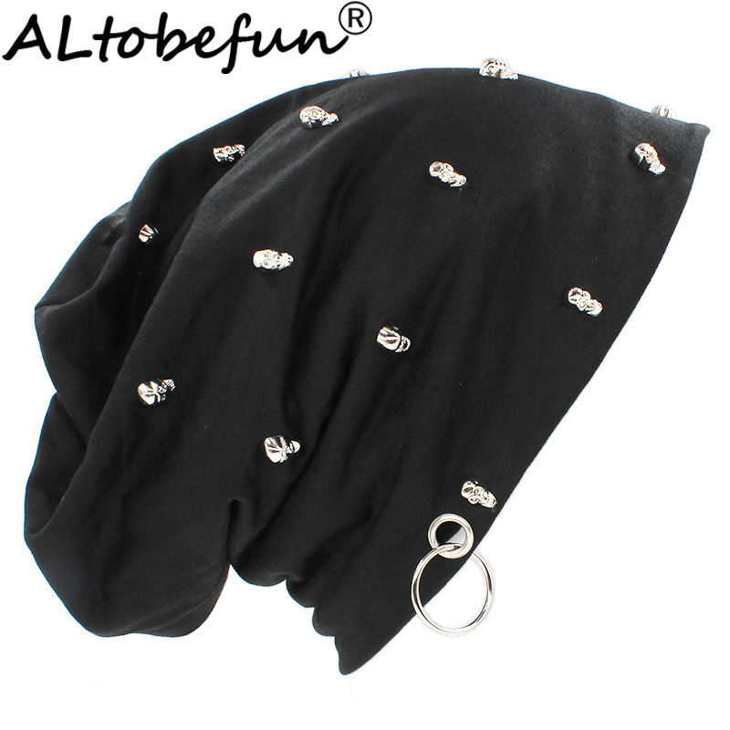 ALTOBEFUN Autumn Winter Warm Hats For Women Men Fashion Lady Skull Design   Skullies     Beanies   For Girl Hip-hop Feminino Cap HT906