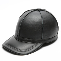 2019 new genuine leather baseball golf/sport cap hat men's winter warm brand new cow skin leather newsboy caps hats