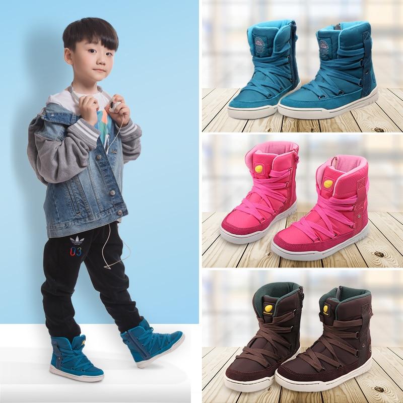 UOVO Marca 2019 Niños Zapatos de invierno Moda Niños Zapatos deportivos casuales para niños y niñas High-Top Sneakers para niños Tamaño 28 # -39 #