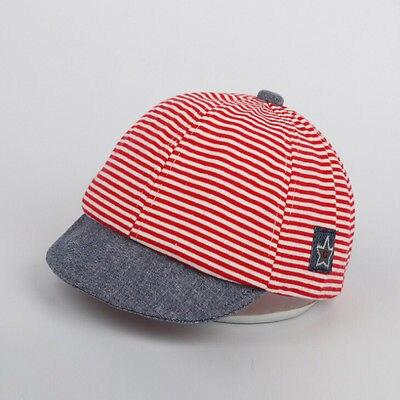 f7e159a959e Helen115 Lovely Summer Newborn Baby Kid Girls Boy Striped Sun Cap Cotton  Beret Hat