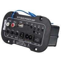 1pc Car Bluetooth Amplifier HiFi Bass Power AMP Stereo Digital Amplifier USB TF Remote For Car