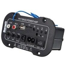 1 pc Voiture Bluetooth Amplificateur HiFi Basse Puissance AMP Stéréo Numérique Amplificateur USB TF À Distance Pour Voiture Accessoires pour La Maison