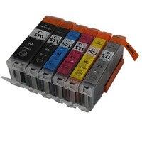 6 Color PGI570 CLI571 PGI 570BK CLI 571 Compatible Ink Cartridge Full Ink For Canon PIXMA
