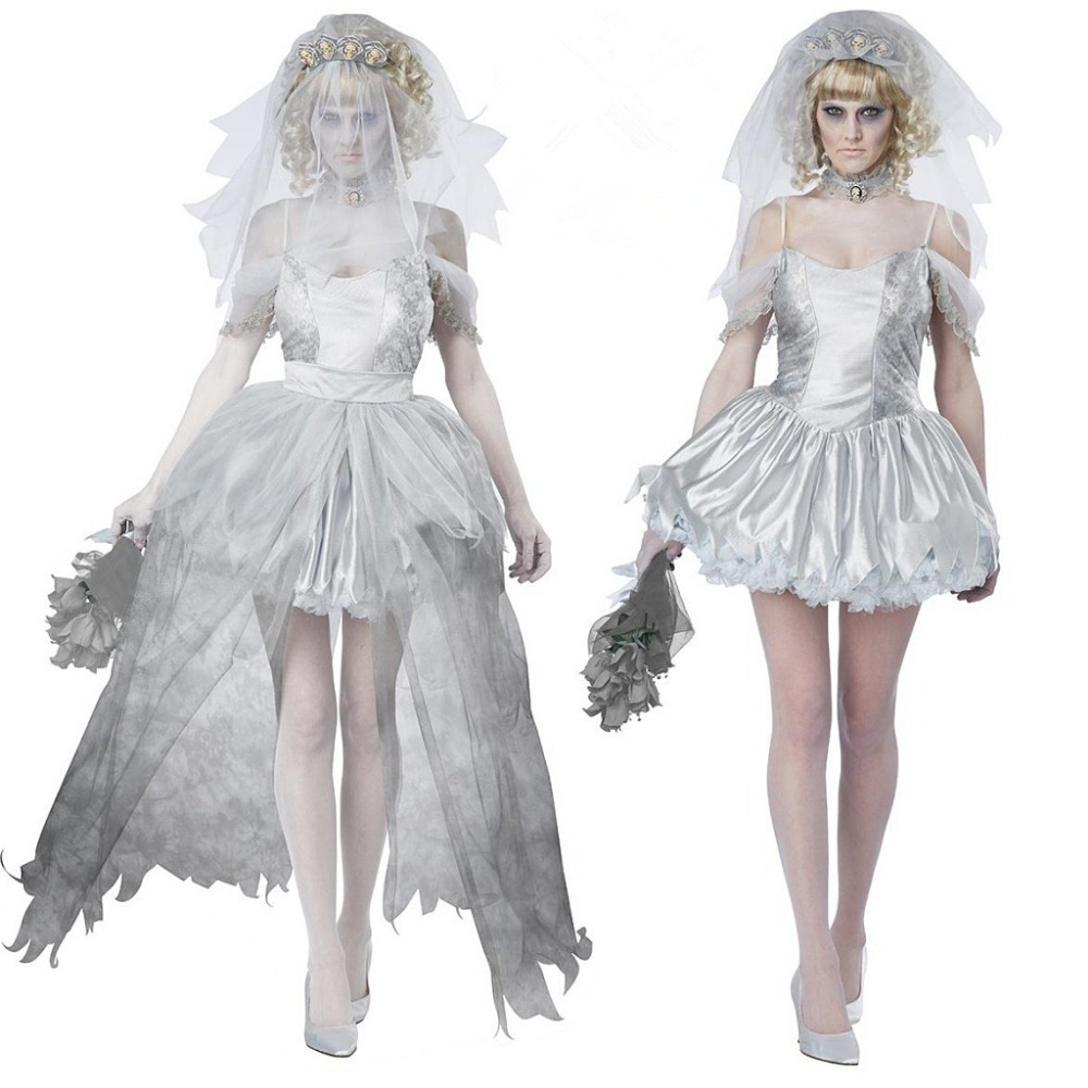 custom made bloody zombie corpse bride wedding dress halloween costume Wedding Dress Gown Halloween Costume 6 Small zoom
