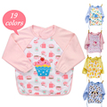 Baby Long Sleeve Waterproof Feeding Bib Art Apron lovely Cute Cartoon Dribble Catcher Long Sleeve For Baby Self Feeding