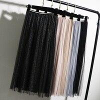 Фатиновая юбка с блёстками