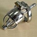 Curto-tipo de dispositivo de castidade masculino de aço inoxidável do caralho gaiola com cateter uretral bdsm homens cb6000s brinquedos sexuais cockring arc