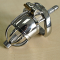 short-type stainless steel cock cage male chastity device with urethral catheter bdsm men cb6000s sex toys arc cockring