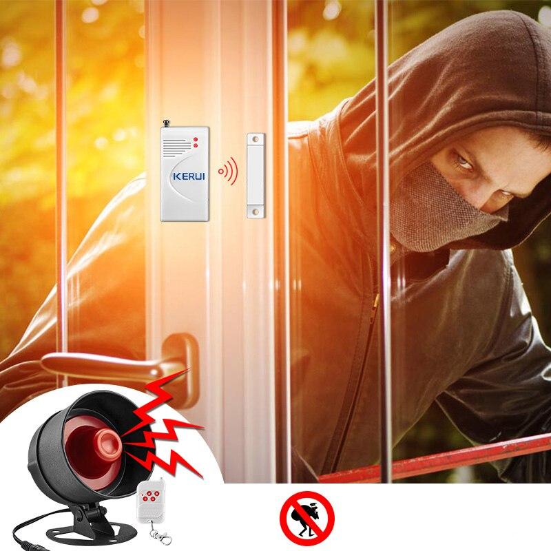 KERUI Sirene Alarm System Installation Einfache Infrarot Sensor Verbindung Fernbedienung Home Security Schutz Set