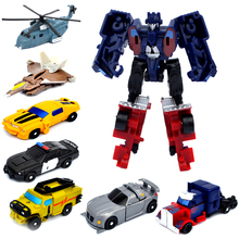 J243 New Arrival Mini Classic Transformation Plastic Robot Cars Action Toy Figures Kids Education Toy Gifts