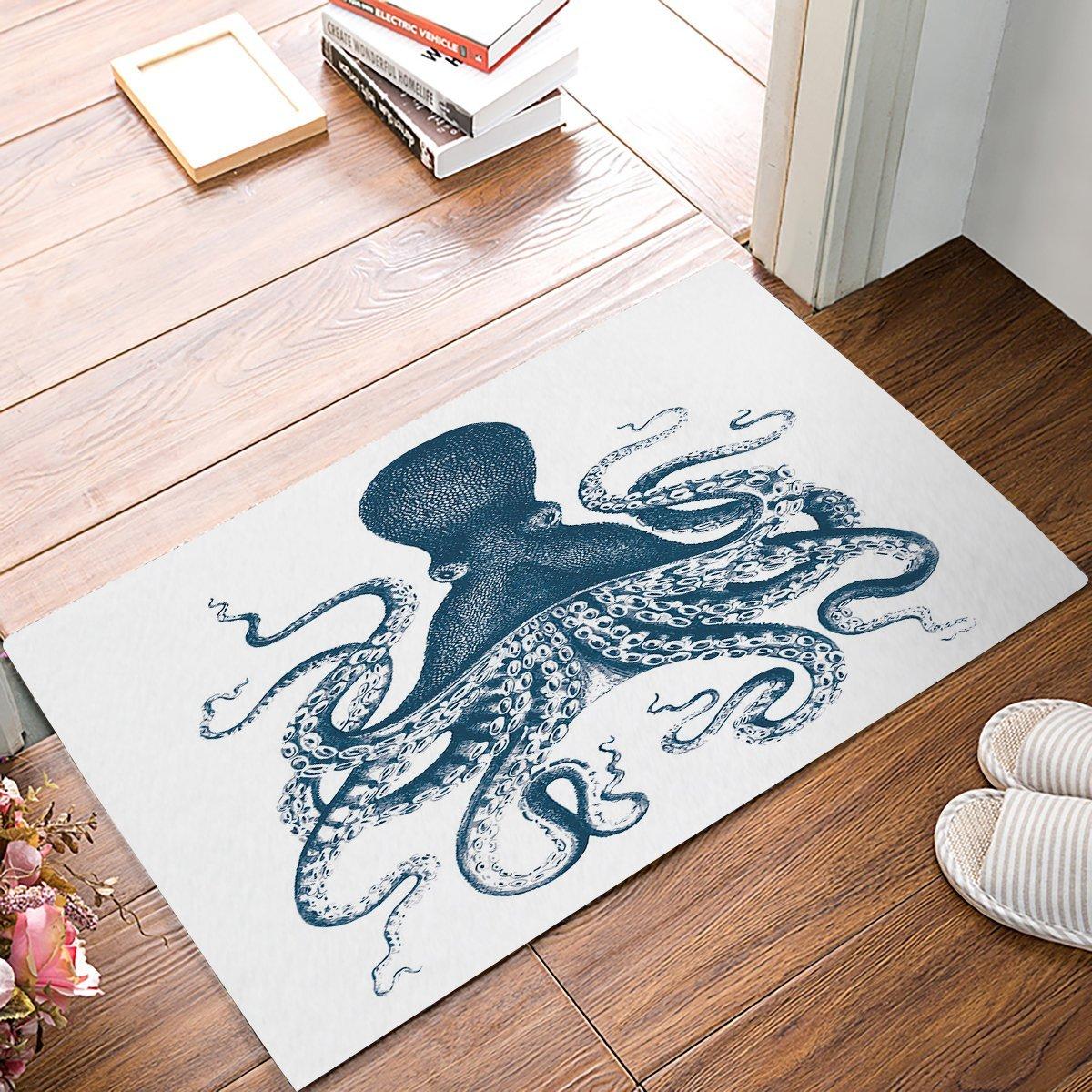 Kraken Octopus Decor Fabric Door Mat Rug Entry Way Intdoor Doormat ...