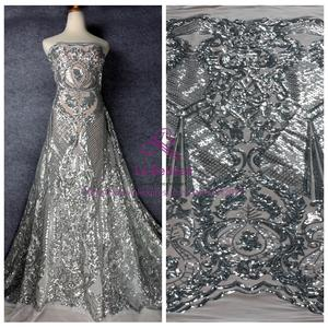 3fe308f8 sequins white mesh embroidered dress lace fabric with