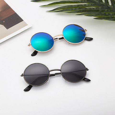 Glitztxunk Black Round Vintage Children Sunglasses Girls Boys Kids Sunglasses UV400 Outdoor Driving Sports Sunglasses Goggles Lahore