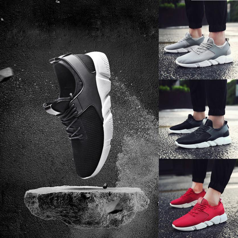 gris Casual Croix Noir Liée Sneakers Bande Hommes rouge Couleur De Chaussures Mokingtop Respirant Mode Gym Solide qfaF6F