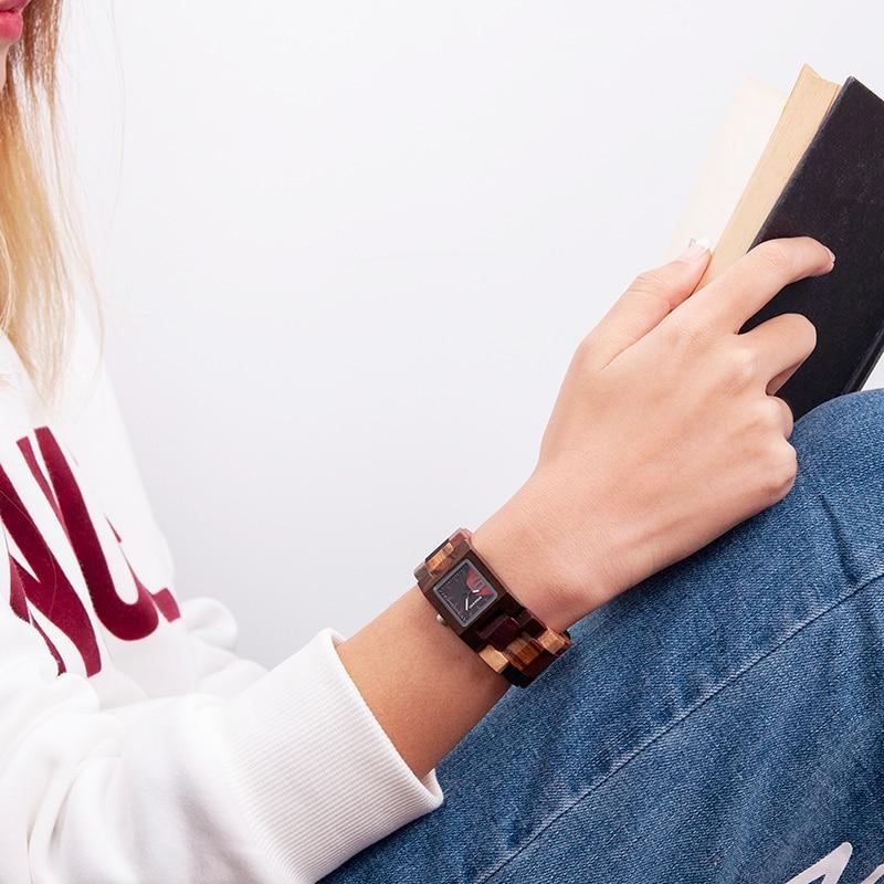 Image 5 - BOBO BIRD Casual Women Quartz Watches Ladies Wood Wristwatch Best Gift For Girlfriend Birthday Present relogio feminino L S02Womens Watches   -
