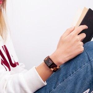 Image 5 - BOBO BIRD Casual Women Quartz Watches Ladies Wood Wristwatch Best Gift For Girlfriend Birthday Present relogio feminino L S02