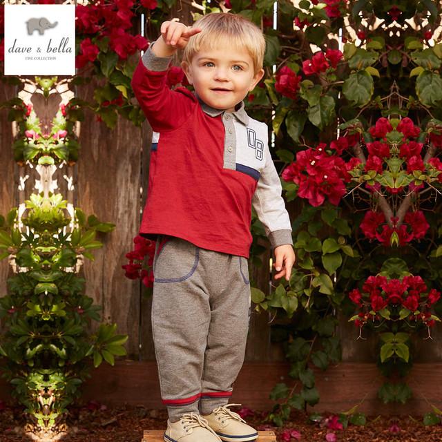 DB4773 davebella primavera bebé niños de rayas rojas ropa chicos guapos ropa boutique kids boys que arropa