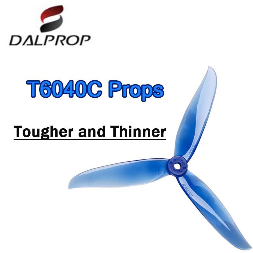12 par 24 pces atualizado dalprop cyclone t6040c pro 6040 pro 6 Polegada 3-lâmina hélice cw ccw para rc zangão fpv corrida